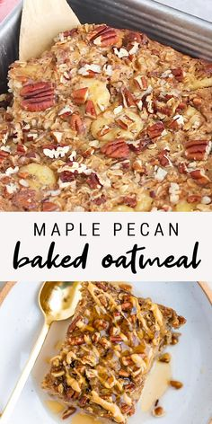 Breakfast And Brunch, Healthy Breakfast Options, Vegan Breakfast Recipes, Brunch Recipes, Easy Healthy Recipes, Veggie Recipes, Gluten Free Recipes, Cooking Recipes, Healthy Baked Oatmeal