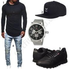 Herren Outfit mit Oversized Shirt und Snapback (m0499)