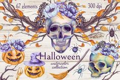 Floral Halloween  by Salted Galaxy on @creativemarket