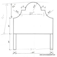 King size upholstered headboard measurements