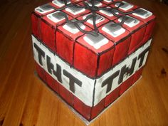 Minecraft TNT cake bomb Cakes And More, Birthday Cakes, Minecraft, Cube, Celebration, Anniversary Cakes, Birthday Cake