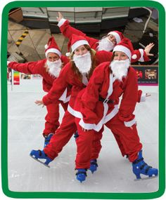Our News - Children's Hospice South West | Santas on the Run take to the ice!! #chsw #santasontherun #christmas #childrenshospice.  Find out more about our Santas on the Run events on our website > www.chsw.org.uk/santas