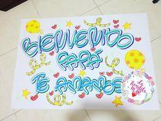 Cartel de bienvenida!!! Te amamos❤❤❤ #hechoamano #hechoconamor #cucuta #pancarta #cartelera #colombia #cumpleaños #amor #amistad #meses Ideas Para, Daddy, Banner, Baby Shower, Diy Crafts, Lettering, Disney, Instagram, Birthday Banners