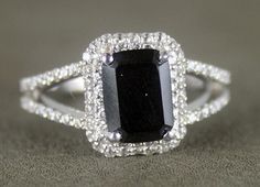 I love black diamond rings. Not sure if I'd want one as an engagement ring though