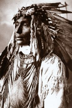 Kill Spotted Horse, Assiniboine Indian also known as Nakota, a tribe of the Northern Great Plains of America, western North Dakota, Montanna, parts of southwestern Manitoba and Saskatchewan.