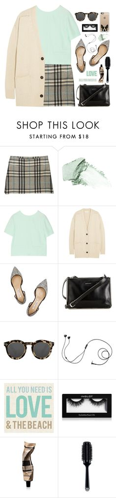 """""""Untitled #371"""" by ino-6283 ❤ liked on Polyvore featuring Burberry, Stila, T By Alexander Wang, Étoile Isabel Marant, Oscar de la Renta, Carven, Illesteva, Marshall, Inglot and Aesop"""