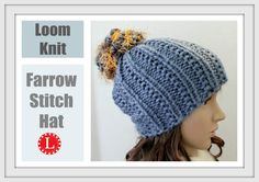 LOOM KNITTING The Farrow Stitch Beanie Hat Extra Large Round Looms Pattern
