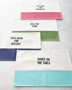 Food for Thought Placemat by Kate Spade at Neiman Marcus.