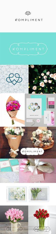 Concept of identity for flower shop #logo #brand #identity #branding #flower #shop #elegant #smart
