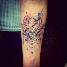 Tattoos @tattooinkspiration Watercolour lotus...Instagram photo | Websta (Webstagram)