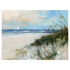 Fine Art Canvas Oak Island Sunrise Beach Sail by Sally Swatland Canvas Art Print, Size: 30 inch x 40 inch, Beige Oak Island, Canvas Art Prints, Painting Prints, Canvas Wall Art, Painting Art, Art Plage, Beach Watercolor, Watercolor Ideas, Seascape Paintings