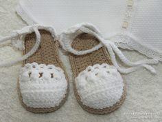 alpargatas de ganchillo.  #bebe, #niña, #alpargatas, #bailarinas, #zapatillas, #zapatitos, #patucos, #crochet, #ganchillo