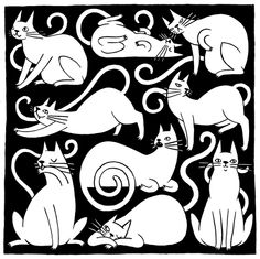 Martha drawing things - cats