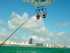 Parasailing in South Beach, Miami