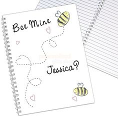 Personalised Bee Mine Notebook  from Personalised Gifts Shop - ONLY £6.95