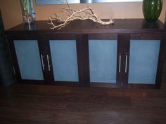 Items similar to Floating Wood Media Cabinet on Etsy Floating Cabinets, Dot Dot, Media Cabinet, Home Theater, Entertainment Center, Entryway Tables, New Homes, Entertaining, Trending Outfits