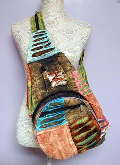 Handmade Backpack Patchwork Crossbody Convertible 2 Strap Hippie Unisex NWT in Backpacks & Bookbags | eBay
