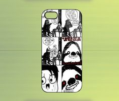 Sloth Comics Case For iPhone 4/4S, iPhone 5/5S/5C, Samsung Galaxy S2/S3/S4, Blackberry Z10