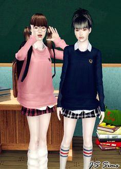 JS Sims 3: [JS SIMS 3] Japanese School Uniform Set