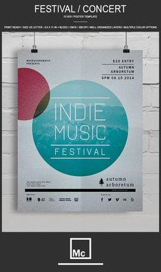 Festival / Concert - Flyer Template by Macrochromatic, via Behance
