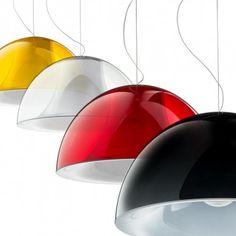 Pedrali Hanglamp L002S/BA - Ø52 cm - Wit/Zwart