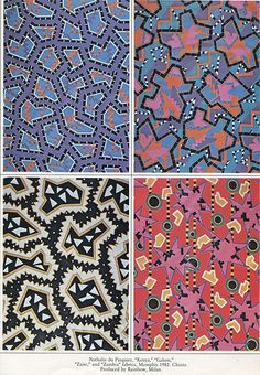 Nathalie du Pasquier, patterns for Memphis
