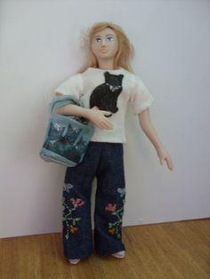 Porcelain Dolls House Doll OOAK Modern teen Girl | eBay