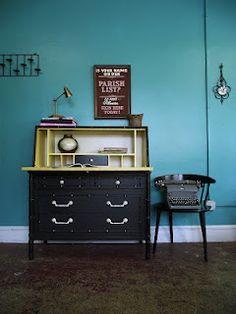 Vintage Secretary Desk...i LOVE this