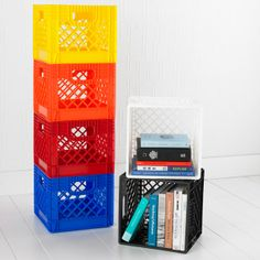 The Container Store > Authentic Dairy Crate -trying to find crates for those crate seats..