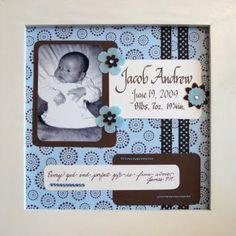 scrapbook birth announcements - Google Search