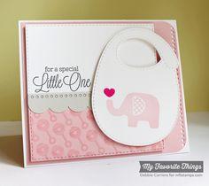 Beautiful Baby, Baby's Bib Die-namics, Blueprints 14 Die-namics - Debbie Carriere #mftstamps