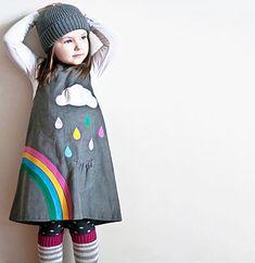 Girls Rainbow Dress
