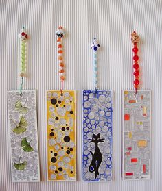 Customized bookmarks on watercolor paper