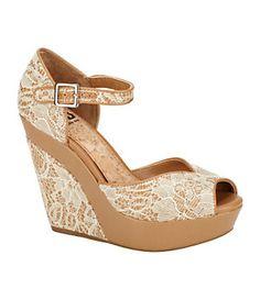 GB Gianni Bini Chik-Flik Wedge Sandals | Dillard's Mobile