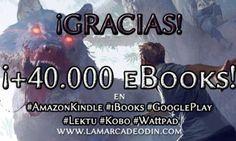 ¡Espectacular superar los 40.000 #ebooks en las principales plataformas digitales externas!