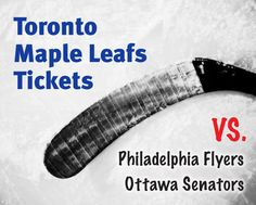 $99 and Up for a Ticket to the Toronto Maple Leafs vs. Philadelphia Flyers on February 26 OR vs. Ottawa Senators on April 5, 2015 at the ACC Philadelphia Flyers, Toronto Maple Leafs, Ottawa, Ticket, February, Sports, Sport