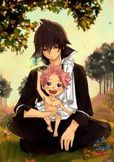 This is definitely a spoiler for those who don't read the manga, but this fantastic looking artwork featuring both Zeref and Natsu Dragneel, while Natsu is still very young in this image, it's very...