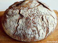 Kuch.com.pl: OKRĄGŁY CHLEB RAZOWY PIECZONY W ŻELIWNYM GARNKU Bread, Food, Brot, Essen, Baking, Meals, Breads, Buns, Yemek