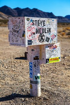 The Black Mailbox, Extraterrestrial Highway, Area 51, Rachel, Nevada; photo by James Phelps