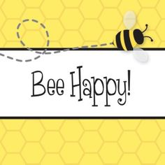 bee happy honeycomb gift tag