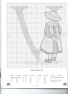 All Our Yesterday Alphabet_V Cross Stitch Boards, Cross Stitch Letters, Cross Stitch Love, Cross Stitching, Cross Stitch Embroidery, Disney Cross Stitch Patterns, Alphabet Design, Alphabet And Numbers, Needlework