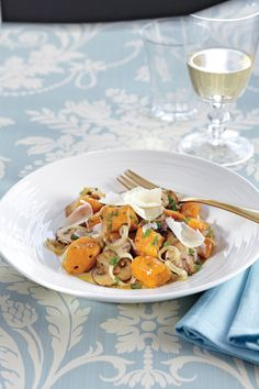 Sweet Potato Gnocchi in Mushroom Butter Sauce