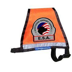 Premium ESA Emotional Support Dog Vest - Reflective - Zipper Pocket - ID Holder *** You can find more details by visiting the image link.