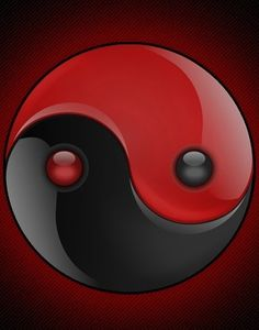 Yin / Yang ~ black & red #blackandred #yinyang http://www.pinterest.com/TheHitman14/black-and-red/