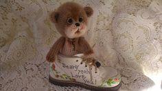 Sweet bear in vintage shoe.  Donation to church bazaar