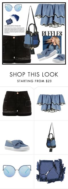 """""""Untitled #695"""" by jovana-p-com ❤ liked on Polyvore featuring River Island, HUISHAN ZHANG, Nine West, See by Chloé, Matthew Williamson, Surratt and By Terry"""