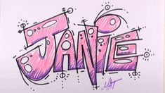 Graffiti Writing Janie Name Design - #24 in 50 Names Promotion