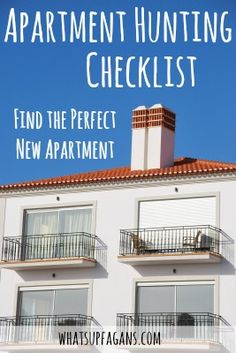 Awesome apartment hunting checklist for shopping for a new apartment home! SO glad I found this!