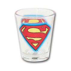 Superman Glitter Logo Shot Glass