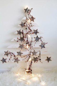 ¿Estás cansada del típico abeto navideño? Te vamos a enseñar algunos de los árboles de Navidad más curiosos que hemos encontrado en la red. Hay muchos de ellos que puedes crear tu misma: son bonitos, económicos y originales #deco #casa #home #decoración #navidad